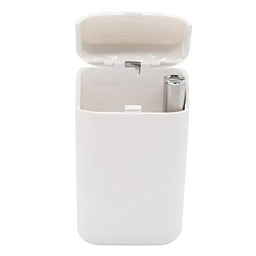 Elektronischer Zigarettenanzünder + Metall-Zigarettenetui, USB-Lade-Elektronik-Feuerzeug, Multifunktions-Zigaretten-Aufbewahrungsbox/Herren-Werbegeschenk, weiß