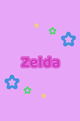Zelda: Personalisiertes Vornamen Notizbuch / Tagebuch - 120 Seiten - Punkteraster - Format 6x9 ca. DIN A5