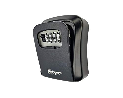 Boîte à Clés à Code Sécurisé extérieur - Kebyco FR - La Boite de Clés - boitier à cle murale- Boite à Code - Cadeau, Coffre à clefs – Noir