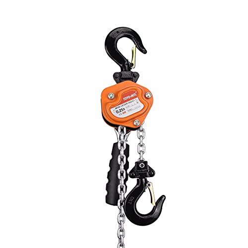 TOYO-INTL Lever Block 0.25 Ton 550lbs Mini Lever block 3M 10Ft Chain Hoist Manual Lever Hoist Chain Hoist Alloy Steel G80 Chain Ratchet Lever Hoist with Hook (10FT)