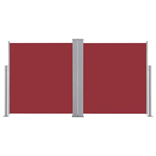 vidaXL Auvent Latéral Rétractable Store Latéral Brise-Vue Abri Soleil Jardin Terrasse Balcon Exterieur Résistant aux UV 170x600 cm Rouge