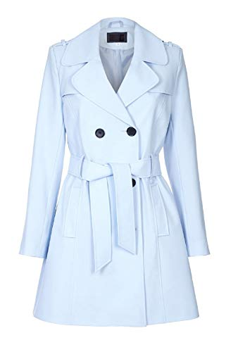 VICKY SMITH LONDON Damen Trenchcoat Mantel Gr. 42, himmelblau