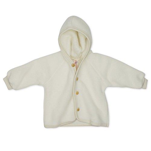 Engel Baby Jacke Fleece, Schurwolle, Engel Natur, Gr. 50/56, Natur