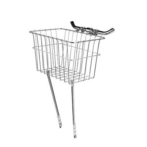 Wald 135 Front-Fahrradkorb (14,5 x 9,5 x 9,5 cm, Silber)