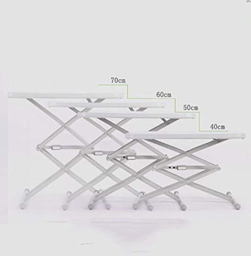WLDD Mesa Pequena Mesa Plegable Mesa De Comedor Cuadrada De IKEA Mesa De Computadora Simple Al Aire Libre Apartamento Pequeno Mesa De Elevacion Ajustable (Color : Beige)
