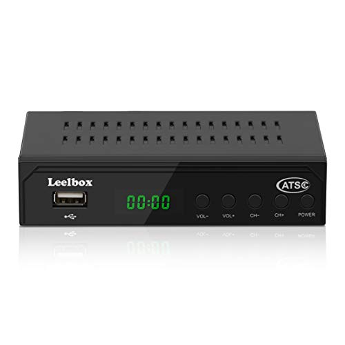 Digital Converter Box,ATSC Tuner with Record and Pause Live TV,USB Multimedia Playback with 1080P HDTV Set Top Box