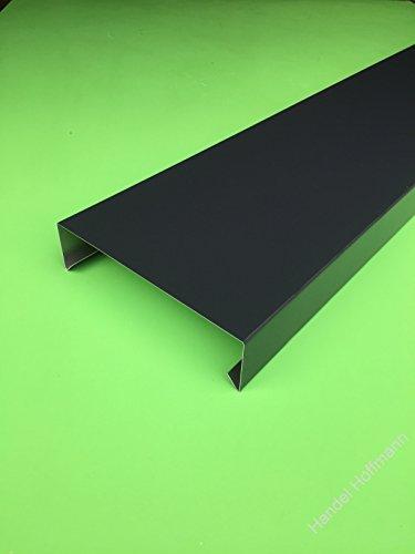 Mauerabdeckung 2 m lang Aluminium farbig 0,8 mm (klein, Anthrazit RAL 7016)