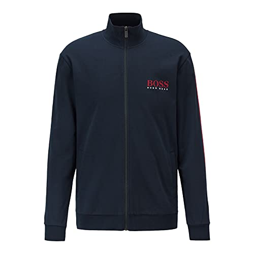 BOSS Authentic Jacket Z Chaqueta con Cremallera, Dark Blue403, S para Hombre