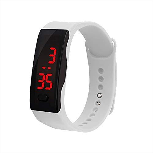Youdong Montre-Bracelet à Affichage numérique LED Montre de Sport en Gel de silice pour étudiants Tracker d'Activité Etanche Podomètre Calorie Smartwatch pour Enfants Femmes Hommes