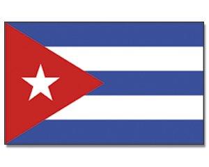 Flaggenking 17048 Kuba/Cuba Flagge/Fahne - wetterfest, mehrfarbig, 150 x 90 x 1 cm