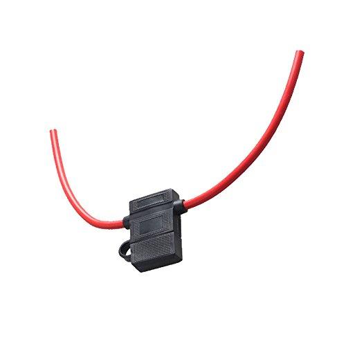 Mintice trade; boîte de support ATC fusible de calibre 16 In-Line AWG cuivre fil 12V lame Prise standard