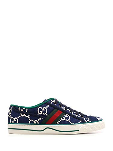 Luxury Fashion | Gucci Heren 606111H0G104370 Donkerblauw Canvas Sneakers | Lente-zomer 20