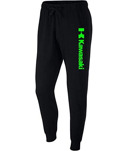beidiyinger Men Kawasaki Racing Sport Ninja Bike JDM Motocross Running Jogger Mid Rise Closed Bottom Knit Sweatpants for Mens Black