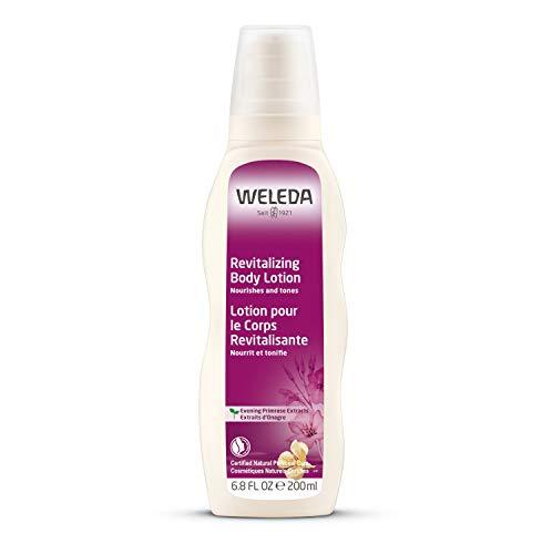 WELEDA Nachtkerze Revitalisierende Pflegelotion, Naturkosmetik Bodylotion zur intensiven Pflege, Stärkung und Regeneration sensibler Haut, Körperlotion für sehr trockene Haut (1 x 200 ml)