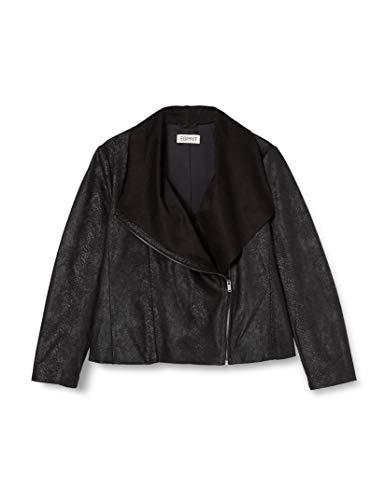 Esprit 110EE1G309 Chaqueta, 001/Black, XL para Mujer