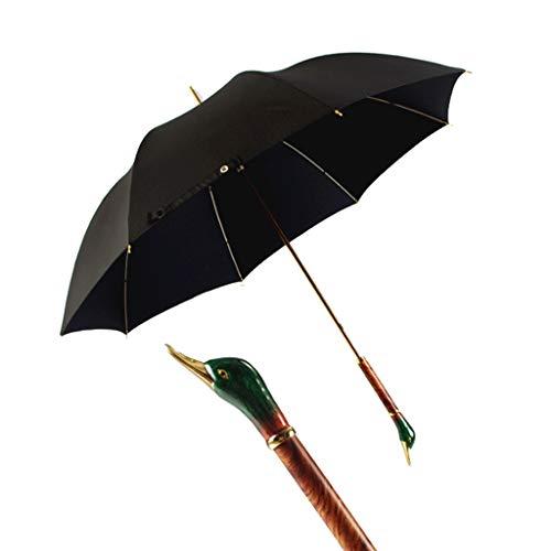 DWQ Al Aire Libre Paraguas Hecho a Mano de Madera sólida del Pato manija de Negocios británico Doble Paraguas de Tela Sol o la Lluvia Paraguas