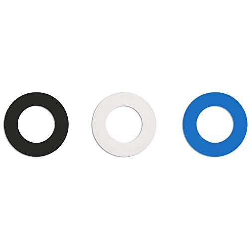 Soulbottles • Gummipack, Ersatzgummi, Naturkautschuk • 3er Pack (weiß, schwarz, blau)