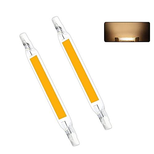 UNISOPH Bombillas LED R7S, 2pcs 5W 78mm Bombilla LED COB 230V 3000K Temperatura de color 500LM Reemplazo de lámpara halógena, Blanco cálido