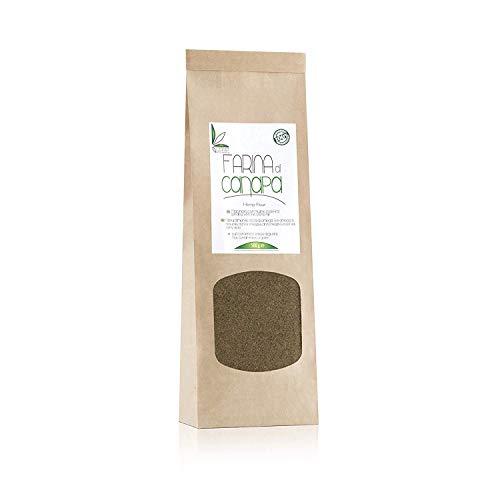 Farina di Semi di CANAPA - 100% italiana - RICCA DI FIBRE, OMEGA 3 e OMEGA 6-500 gr