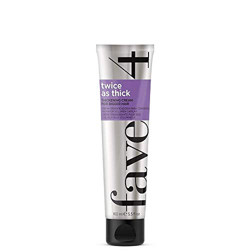 fave4 hair Twice as Thick Thickening Cream for Bigger Hair, Volume for All Hair Types, 5.5 fl oz