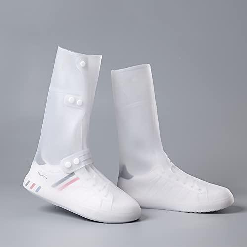 QYTS Cubiertas de zapatos impermeables reutilizables al aire libre del zapato del silicón con las cubiertas antideslizantes de la cremallera del