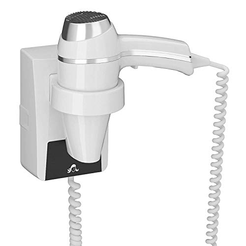 Secador de pelo CLIPPER II 1400W blanco, soporte