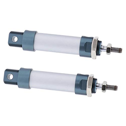 Colcolo Pack 2 MAL16 Cilindro de Aire Neumático de Doble Efecto Varilla MAL 100mm 300mm