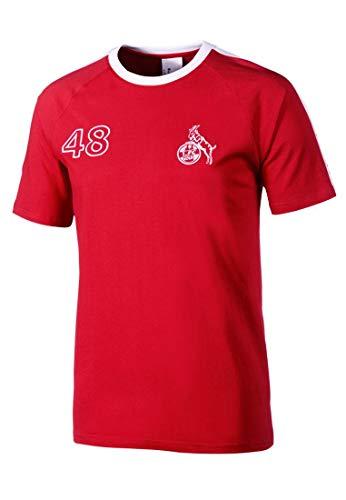 uhlsport Herren 1.Fc Köln Retro 1948 App T-Shirt, rot/Weiß, 4XL