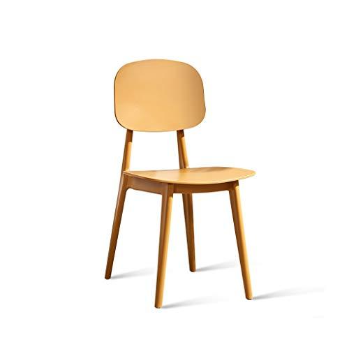 JJZXD Repas rétro Moderne chaises Durable PP Dossier avec Les Jambes en Bois Massif, chauffeuses for la Cuisine (Color : A)