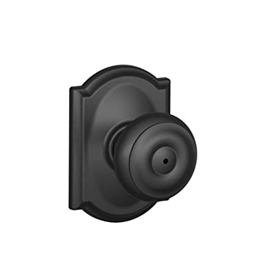 Schlage F40 GEO 622 CAM Camelot Collection Georgian Privacy Knob, Matte Black