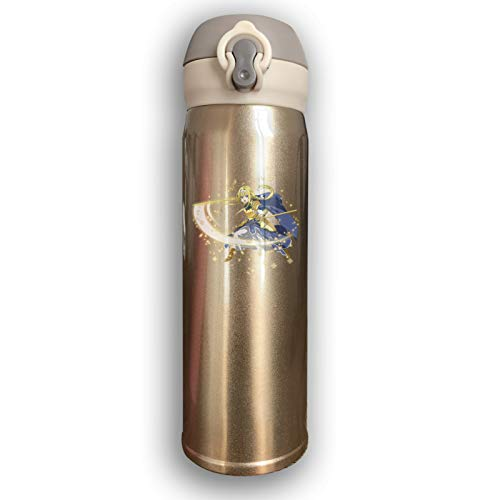 Lwjki Vacuum Insulated Stainless Steel Stainless Steel Thermal Bottle Sword Art Online Yuuki Asuna Fashion Travel Tumbler For Hot/Cold Drink Coffee Or Tea Yellow