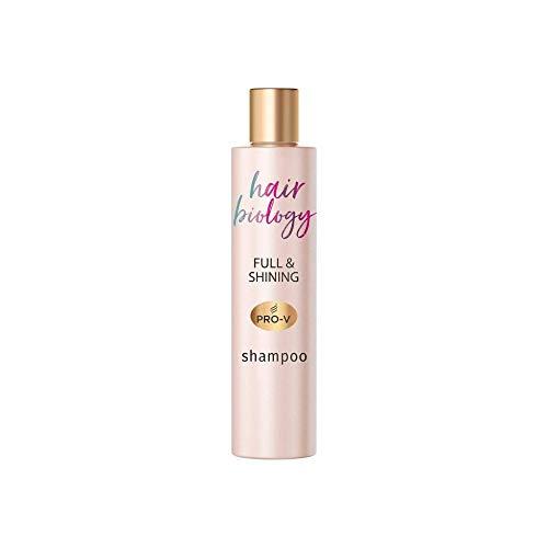 Hair Biology Full & Shining Shampoo, 250ml, für feines oder Dünner Werdendes und Coloriertes Haar, Damen Shampoo, Haarpflege, mit Lotusblume, Shampoo ohne Farbstoffe, feines Haar, dünnes Haar