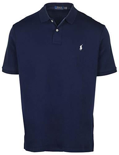 Polo Ralph Lauren Mens Medium Fit Interlock Polo Shirt (2XL, Newport Navy)