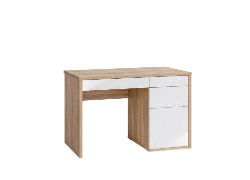 MAJA-Möbel 4059 2556 Schreib- und Computertisch, Sonoma-Eiche-Nachbildung - weiß Hochglanz, Abmessungen BxHxT: 110 x 77,5 x 60 cm