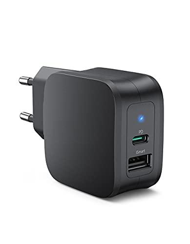 Caricabatterie USB C, Adattatore di Alimentazione PD da 30W USB C Caricabatterie da Parete con Doppie Porte USB Adattatore di Ricarica, Compatibile per iPhone 13/12/13 Pro / 13 Pro Max