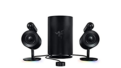 Razer Nommo Pro: Gaming Speakers - THX Certified Premium Audio - Dolby Virtual Surround Sound - LED Illuminated Control Pod - Downward Firing Subwoofer - Powered by Razer Chroma from Razer Inc.