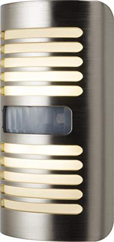 GE Enbrighten LED Night Light, Motion-Select Sensor, 40 Lumens, Dusk-to-Dawn, 25 ft. Detection Range, UL-Listed, Ideal for Bedroom, Nursery, Bathroom, 37299, Brushed Nickel | Louver Design