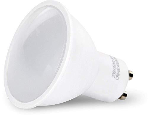 LED-Strahler GU10 5 W - 3 Intensitätsstufen mit jedem Schalter + Taste - ohne Dimmer (Tageslicht weiß (4000 K)