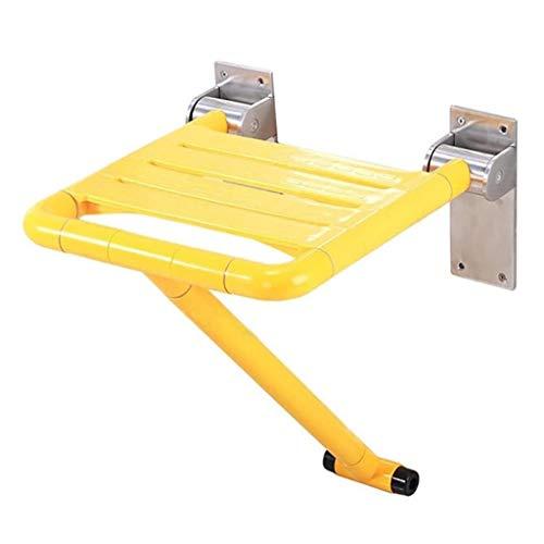 Lszdp-negozio Wand- Faltbare Duschhocker, Badezimmer Duschstuhl, Alter Wandschuh Ändern Hocker geeignet for WC, Dusche (Color : Yellow)