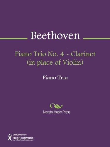Piano Trio No. 4 - Clarinet (in place of Violin) (English Edition)