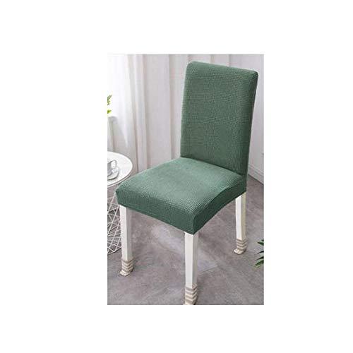 REYG Velvet Stretch Dining Chair Schonbezüge - Spandex Plüsch Kurze Stuhlbezüge Solide Große Esszimmer Stuhl Protector Home Decor Set Von 4 Schwarz,Green