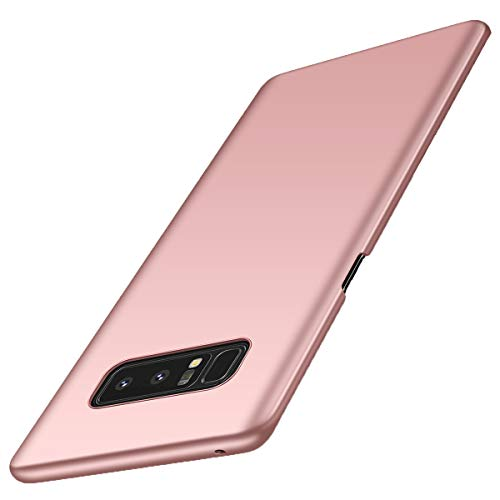 Galaxy Note 8 Case Cover Slim Fit PC Shell Bumper Adamark Anti-Scratch Thin Hard Cover Shockproof Protective Case For Samsung Galaxy Note 8 (Rose Gold)