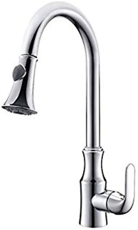 Wasserhahn Wasserhahn Wasserhahn Verchromt Kupfer Küchenschüssel Warmes Und Kaltes Wasserhahn Pull Becken Wasserhahn