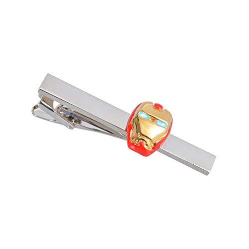 LYXPUZI Gold und Silber zweifarbige Epoxy Iron Man-Art Film und Fernsehen Krawattenklammer