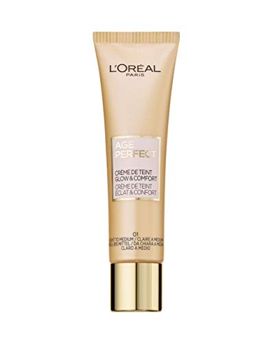 L'Oréal Paris Age Perfect Getönte Tagescreme, Hell bis Mittel 01, feuchtigkeitsspendend Tagescreme...