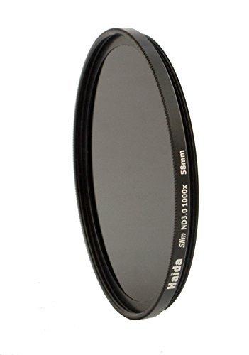 HAIDA Slim Graufilter ND1000 58mm.Schlanke Fassung + Pro Lens Cap mit Innengriff