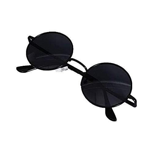 YBINGA Jujutsu Kaisen Cosplay Gojo Satoru Runde Sonnenbrille Retro Brille Schwarz Unisex Accessoires Requisiten Cosplay Zubehör (Farbe: Stil B)