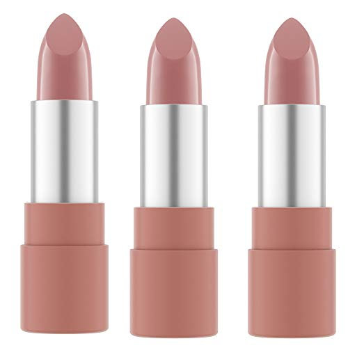 Catrice Clean ID Ultra High Shine Lipstick, Lippenstift, Nr. 030 Make It Nuder, nude, pflegend, feuchtigkeitsspendend, glättend, mit Ölen, scheinend, vegan, ohne Parfüm, 3er Pack (3 x 3,5g)