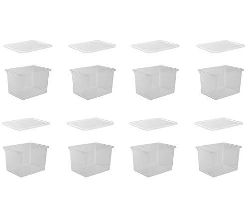 """Nordiska Plast - 8 stapelbare 20 L Aufbewahrungsboxen mit Deckel """"Store-It"""" - Box aus Kunststoff/Plastik - transparent, 39x29x24,5 cm - BPA-frei - Made in Sweden"""