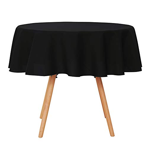 UMI. by Amazon - Manteles Mesa Rectangular de Cocina para Restaurantes 140 cm Negro